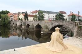 Písek, Alte Brücke und ehem. Königsschloss
