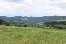 Ein Blick von den Höhen auf die Moldau