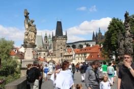 Prag, Karlsbrücke Richtung Kleinseite