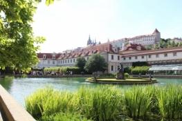 Prag, Prager Burg vom Wallensteinpalais