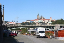 Blick zurück auf Prag