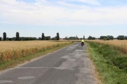 Moldau-Radweg bei Lužec