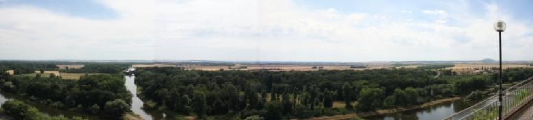 Ausblick von der Terrasse in Mělník