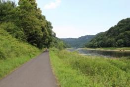 Elberadweg hinter Děčín