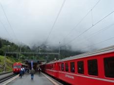 Man kan skifte til toget til Davos i Filisur/At Filisur one can change to the train to Davos