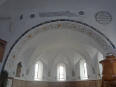 Korbuen i kirken i Ftan/The rood arch in the church of Ftan