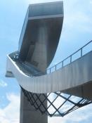 Et besøg på byens olympiske skihopbakke på Bergisel stadion/A visit at the olympic skijumping hill