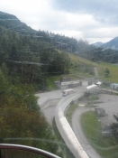 Et kig ned på den olympiske bob- og kælkebane/A glance at the olympic bob and luge track