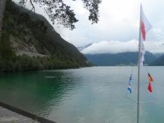 Den mindede Simon om Gardasøen i Italien/It reminded Simon of Lake Garda in Italy
