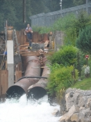 Et vandkraftværk ved Mangfall, udløbet fra Tegernsee/A hydroelectric plant at the river Mangfall