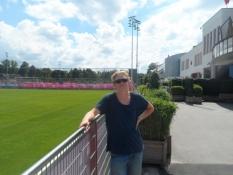 Selv om træningsanlægget var uden Bayern-stjerner/Although there were no Bayern stars to be seen