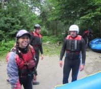 Ester, vores australske rafting skipper/Ester, our Australian rafting captain