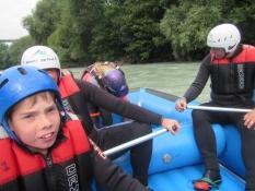 De andre i båden, to tyske mænd og en dreng/The others in our boat, two German men and a boy