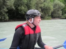 Simon har også fået padlen i hænderne/Simonʹs got a good grip of the paddle