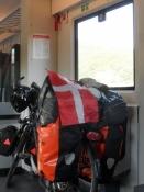 I toget på vej fra Fulda til Bamberg/In the train on my way from Fulda to Bamberg