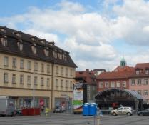 VM-storskærm på Max-Platz i Bamberg/World Cup giants screen in Bamberg