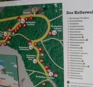 Kort over ølkælderskoven. Unikt!/A map of the beer cellar forest. Unique!