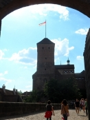Ægte middelalderatmosfære på borgen/Real medieval atmosphere in the Nuremberg castle
