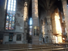 Et kig ind i Frauenkirche fra 14. årh./A view into Our Dear Ladyʹs Church from the 14th century