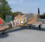 En Hawker Hurricane udstillet/A Hawker Hurricane on display