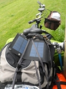 Min nye solaroplader i funktion/My new solar recharger in operation