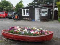 Receptionen på Daisyfields campingplads i Littlehampton/The reception at Daisyfields camp site
