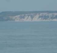 Isle of Wights kridtklinter og England er slut/The chalk cliffs of Isle of Wight and Englandʹs gone