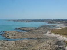 Klippekysten mod syd set fra fyrtårnet/The rocky coast southwards seen from the lighthouse
