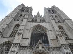 Brussels domkirkes vestfacade/Brusselsʹ cathedralʹs western facade