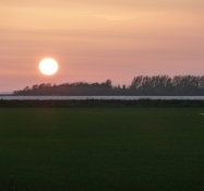 Solnedgang over Nakskov fjord/Sunset at Nakskov fiord