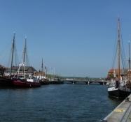 Havnefronten i Neustadt-in-Holstein/The harbour front in Neustadt-in-Holstein