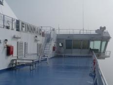 Kommandobroen på M/F Finnmaid/The bridge of M/F Finnmaid