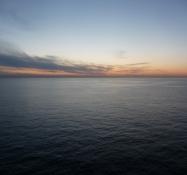 Solen er gået ned over Østersøen/The sun has set over the Baltic Sea