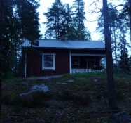 Den tomme lejrskole, hvor jeg slog lejr/The abandoned camp school, where I pitched my tent