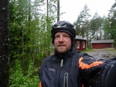 Selfie ved afgang fra Kirakanjärvi/Selfie at departure time from Kirakanjärvi