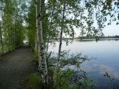 Tampere campingplads ligger smukt ned til en sø/Tampere camp site is beautifully situated at a lake