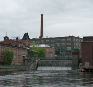 Gamle fabrikker ved Tammerkoski/Old factories along Tammerkoski rapids