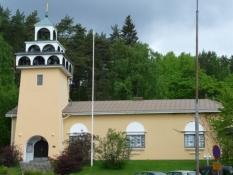 Spøjs kirke på vej ud af Jyväskylä/Funny church on my way out of Jyväskylä