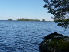 Udsigt over Alvajärvi/View across lake Alvajärvi