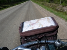 Styrtaske med et godt cykelkort/My handlebar bag with a good cycle map