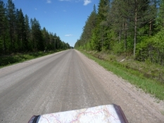 Sådan ser mange veje ud i Finland/This is a typical road in Finland
