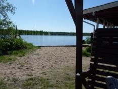 Og her er stranden og floden, jeg badede i/And this is the beach and river, I had a swim in.