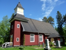 Den lille trækirke i Temmes/The small wooden church at Temmes