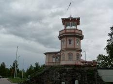 Også observatoriet er bygget af træ/Even the observatory is built of wood