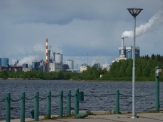 Industrien præger byen/The city is characterized by industry