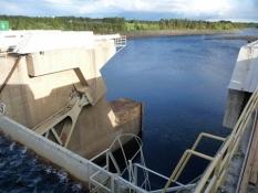 En del af Ossauskoski-vandkraftværket/A part of the hydroelectric plant at Ossauskoski
