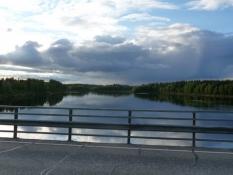 Her krydser jeg selve Ounasjoki, Nordlaplands største flod/Here i cross Ounasjoki itself