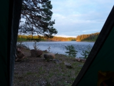 Udsigt fra mit telt sent om aftenen/View from my tent late in the evening