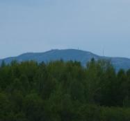 Udsigt til et rigtigt bjerg, skisportsstedet Levi. View to a real mountain, the ski resort of Levi