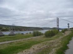 Broen over Tana-elven i Tana bru/The bridge across river Tana in Tana bru